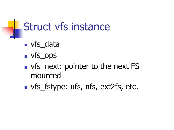 Struct vfs instance