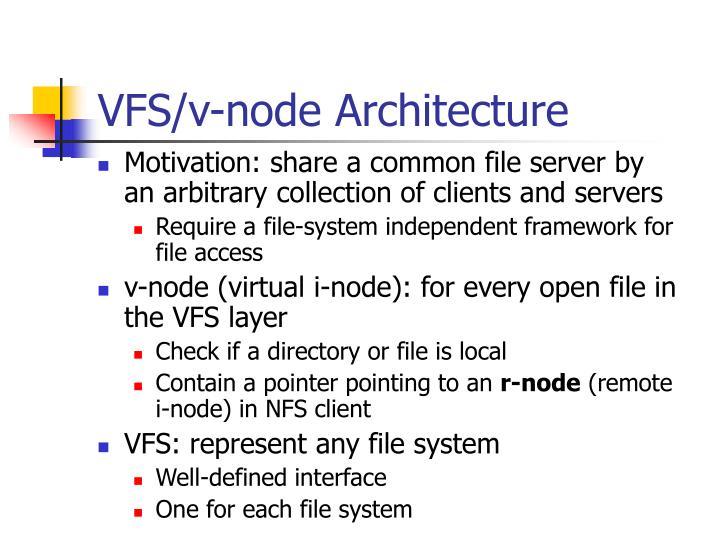 VFS/v-node Architecture