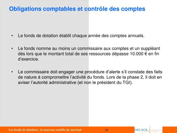 Obligations comptables et contrôle des comptes