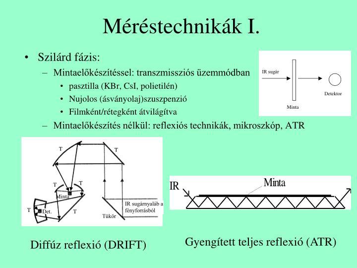 Méréstechnikák I.