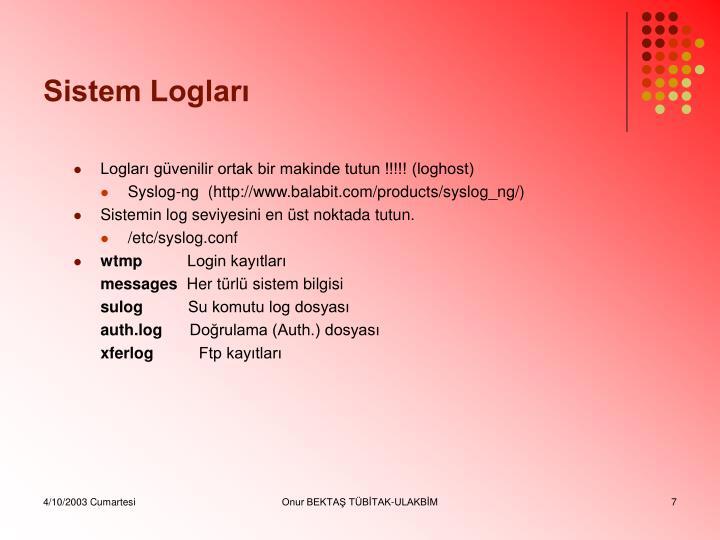 Sistem Logları