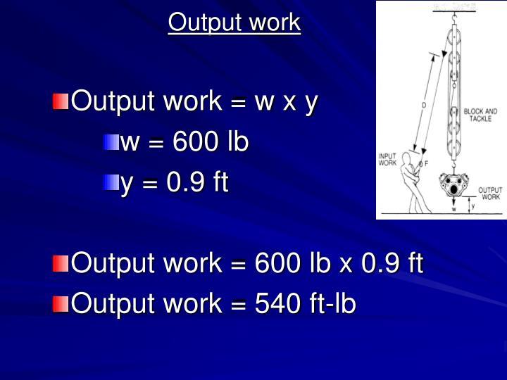 Output work