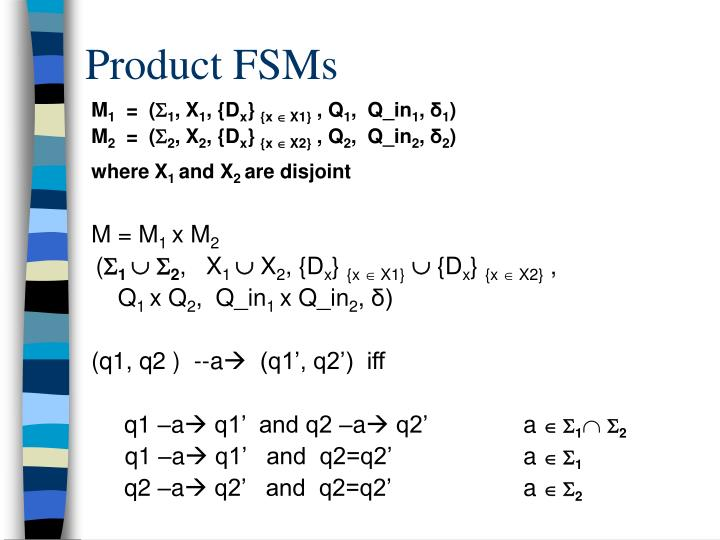 Product FSMs