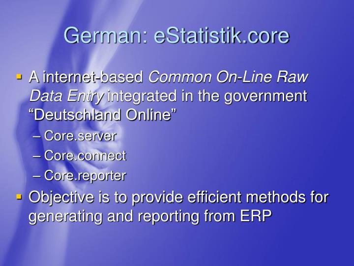 German: eStatistik.core