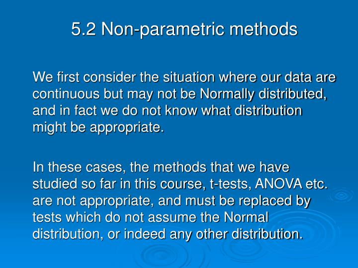 5.2 Non-parametric methods