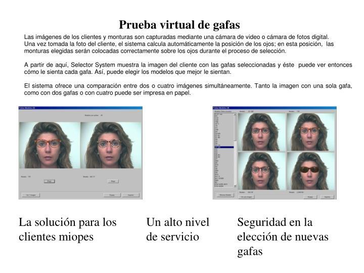 Prueba virtual de gafas
