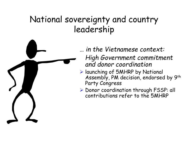 National sovereignty and country leadership