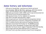 some history and milestones