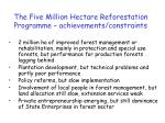 the five million hectare reforestation programme achievements constraints