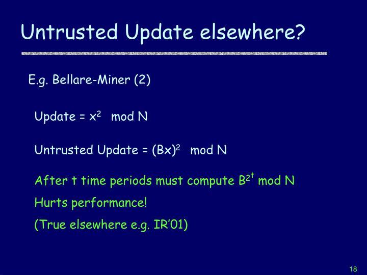 Untrusted Update elsewhere?