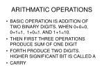 arithmatic operations