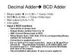 decimal adder bcd adder