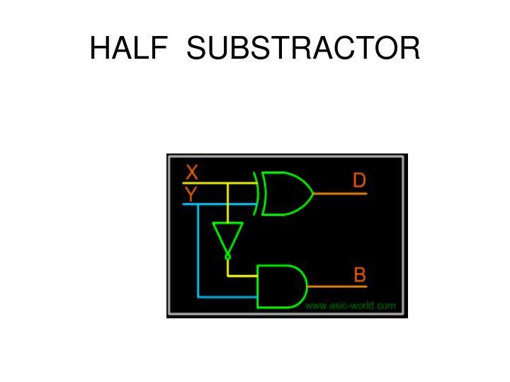 HALF  SUBSTRACTOR