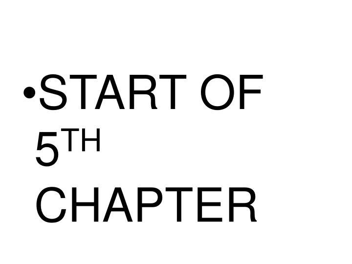START OF 5