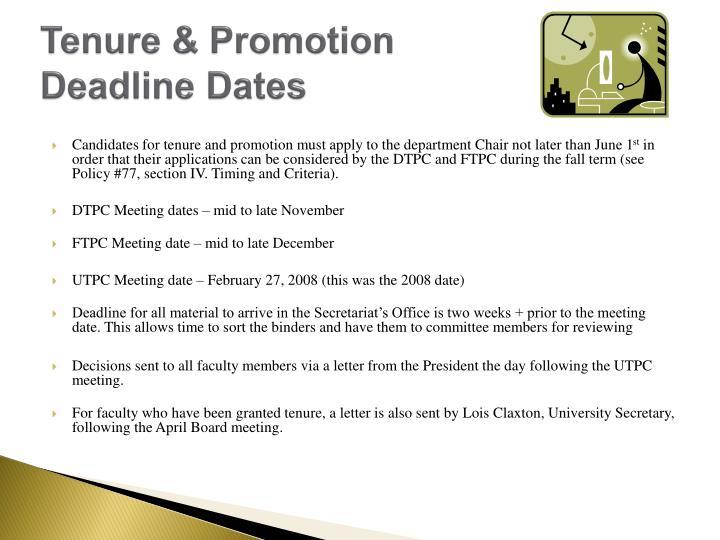 Tenure & Promotion