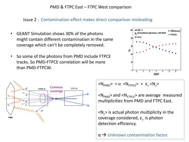 PMD & FTPC East – FTPC West comparison