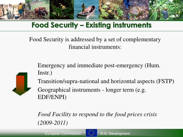 Food Security – Existing instruments