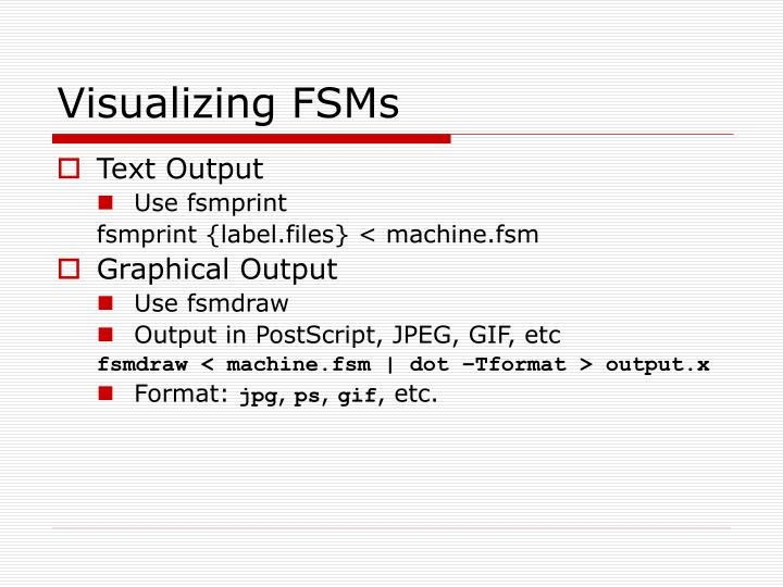 Visualizing FSMs