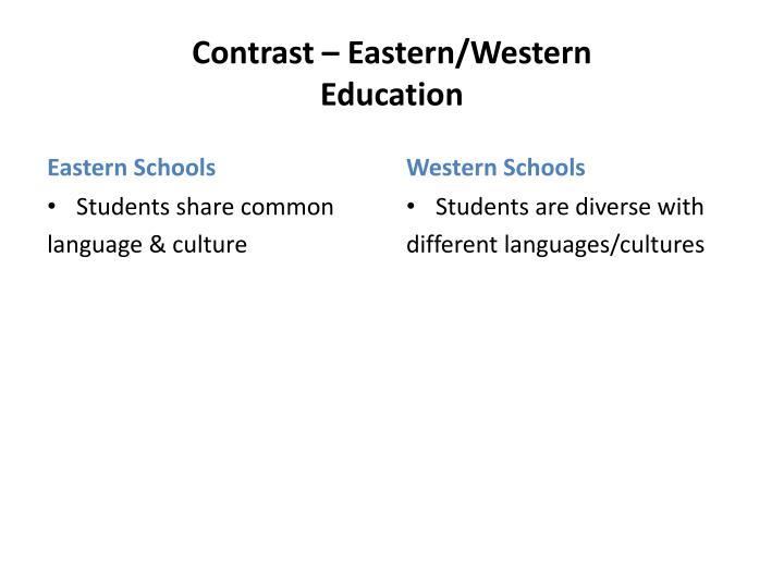 Contrast – Eastern/Western