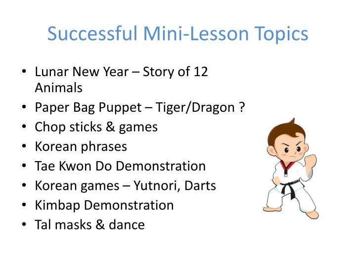 Successful Mini-Lesson
