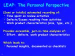 leap the personal perspective