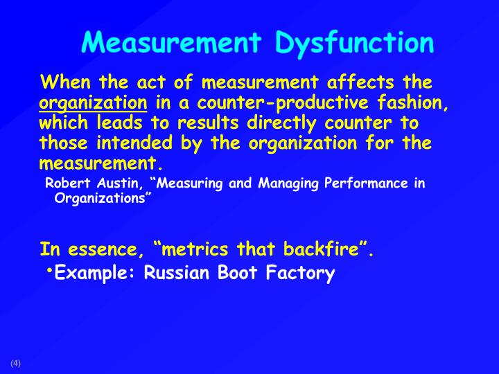 Measurement Dysfunction