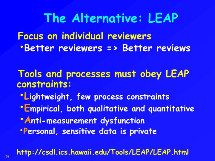 The Alternative: LEAP