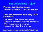 the alternative leap