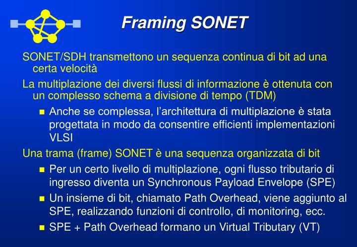 Framing SONET