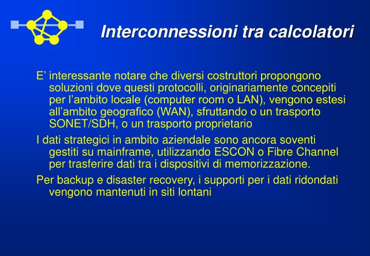 Interconnessioni tra calcolatori
