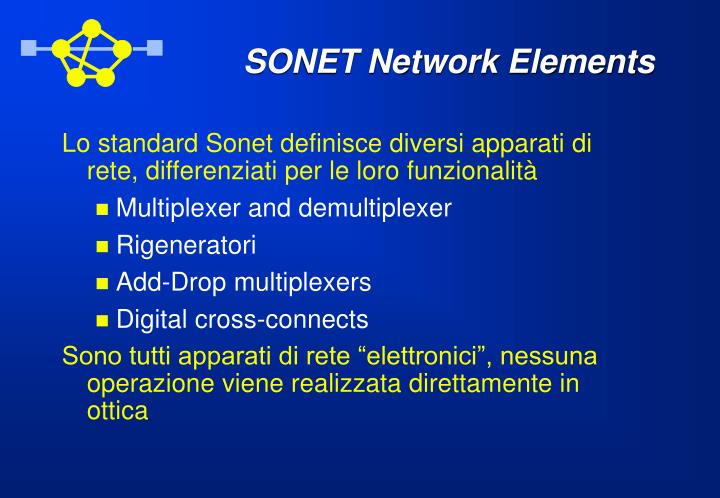 SONET Network Elements