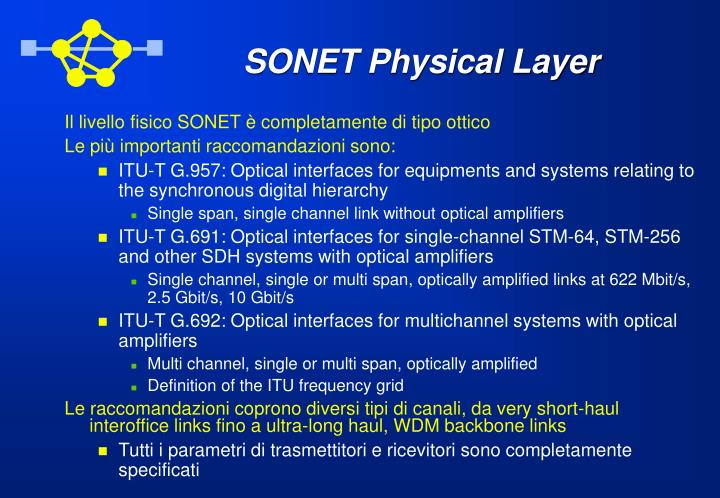 SONET Physical Layer