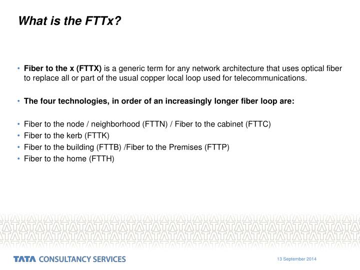 What is the FTTx?