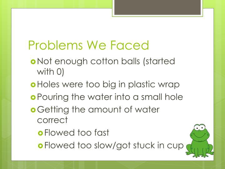 Problems We