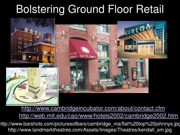 Bolstering Ground Floor Retail
