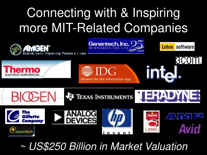 Connecting with & Inspiring more MIT-Related Companies