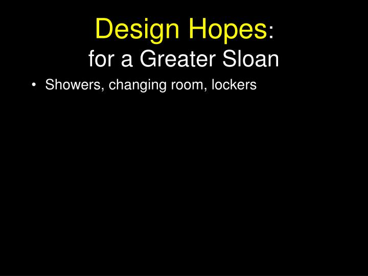 Design Hopes