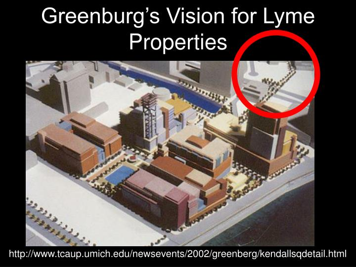 Greenburg's Vision for Lyme Properties