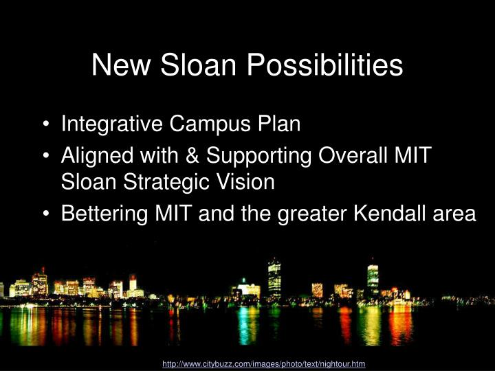 New sloan possibilities