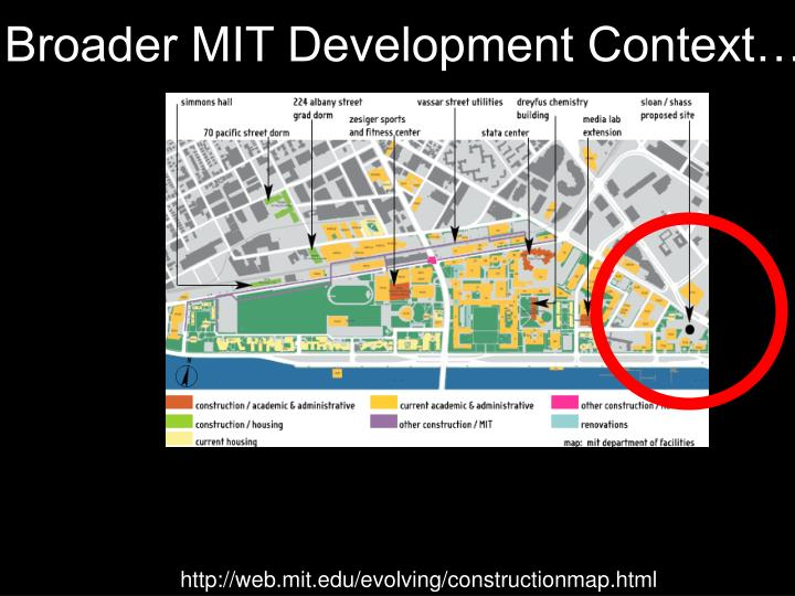 Broader MIT Development Context…