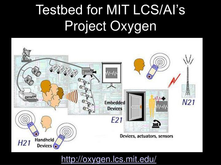 Testbed for MIT LCS/AI's Project Oxygen