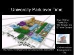university park over time