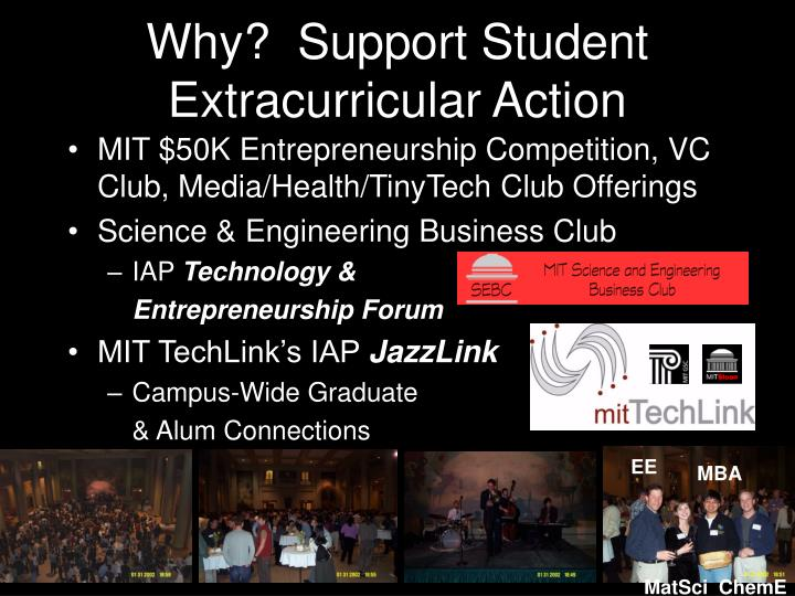 Why?  Support Student Extracurricular Action