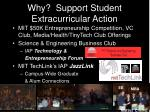 why support student extracurricular action