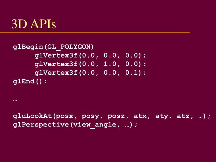 3D APIs