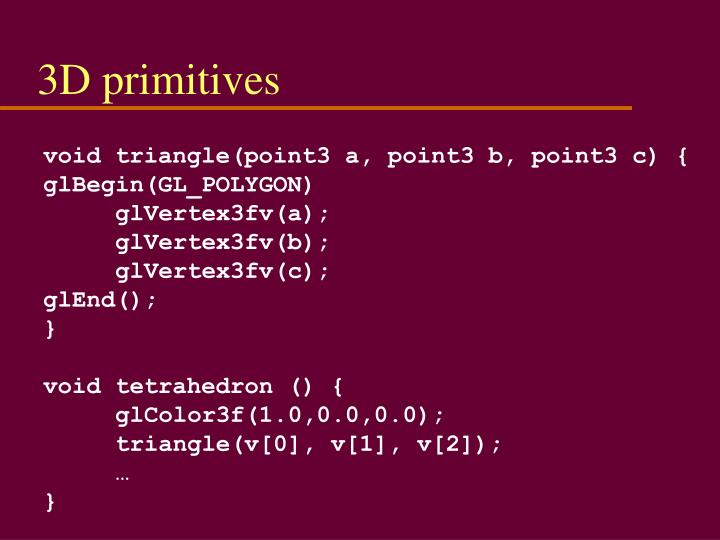 3D primitives