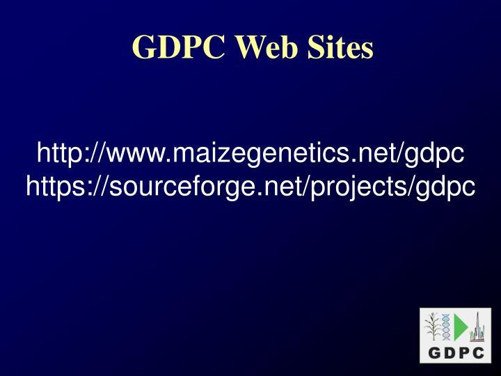 GDPC Web Sites