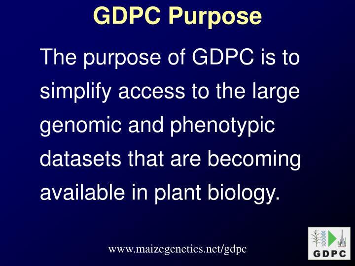 GDPC Purpose