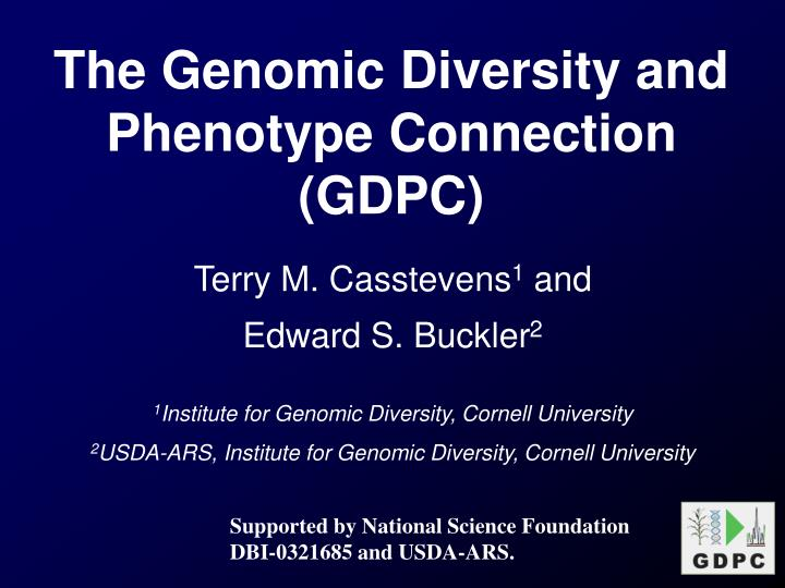 The Genomic Diversity and Phenotype Connection