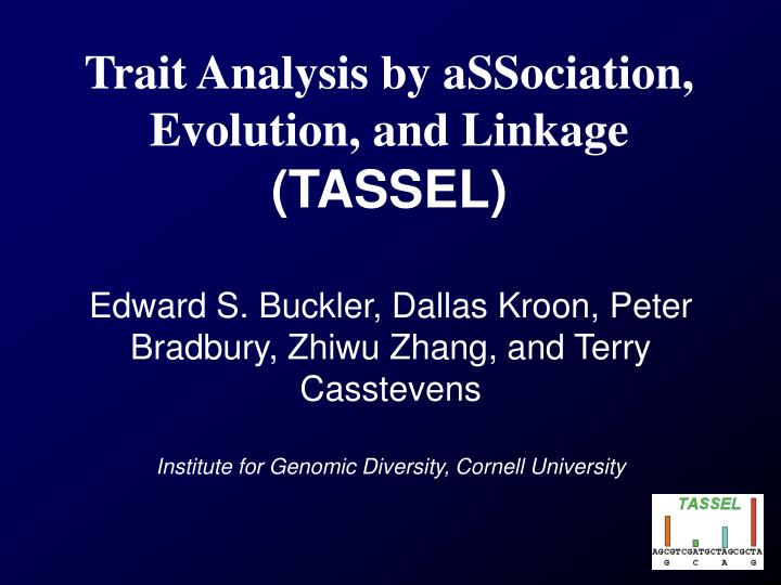 Trait Analysis by aSSociation, Evolution, and Linkage